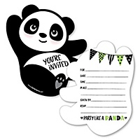 Birthday party fill in invitations thank you cards party like a panda bear shaped fill in invitations baby shower or birthday party invitation cards with envelopes set of 12 filmwisefo
