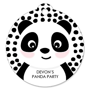 Party Like a Panda Bear - Personalized  Baby Shower or Birthday Party Favor Gift Tags  - 20 ct