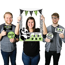 Party Like a Panda Bear - Personalized  Baby Shower or Birthday Party Photo Booth Picture Frame & Props - Printed on Sturdy Material