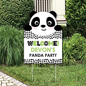 Party Like a Panda Bear - Party Decorations -  Baby Shower or Birthday Party Personalized Welcome Yard Sign