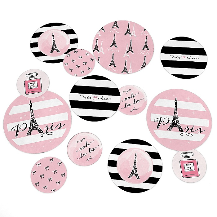 Paris, Ooh La La - Paris Themed Party Table Confetti - 27 ct