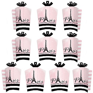 Paris, Ooh La La - Table Decorations - Paris Themed Baby Shower or Birthday Party Fold and Flare Centerpieces - 10 Count