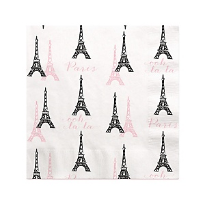 Paris, Ooh La La - Birthday Party Beverage Napkins - 16 ct