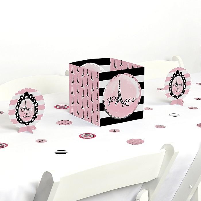 Paris, Ooh La La - Paris Themed Baby Shower or Birthday Party Centerpiece and Table Decoration Kit