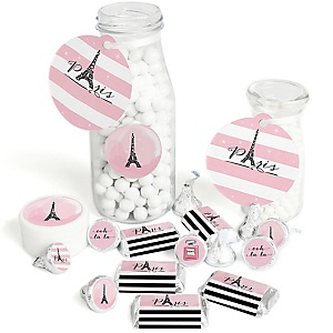 Paris, Ooh La La - Paris Themed Baby Shower or Birthday Party Decorations Favor Kit - Party Stickers & Tags - 172 pcs