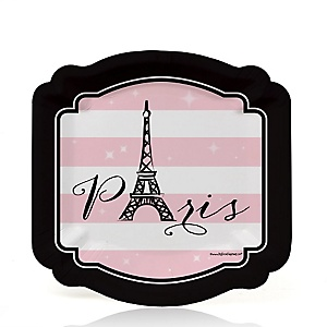 Paris, Ooh La La - Birthday Party Dessert Plates - 8 ct