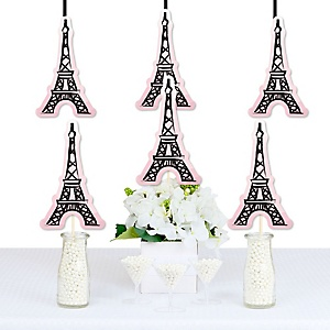 Paris, Ooh La La - Eiffel Tower Decorations DIY Paris Themed Baby Shower or Birthday Party Essentials - Set of 20