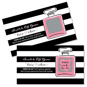 Paris, Ooh La La - Paris Themed Party Game Scratch Off Cards - 22 ct