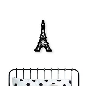 Paris, Ooh La La - Eiffel Tower Nursery and Kids Room Home Decorations - Shaped Wall Art - 1 Piece