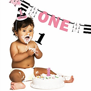 Paris, Ooh La La - 1st Birthday Girl Smash Cake Kit - High Chair Decorations