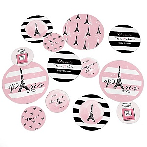 Paris, Ooh La La - Personalized Paris Themed Baby Shower Table Confetti - 27 ct