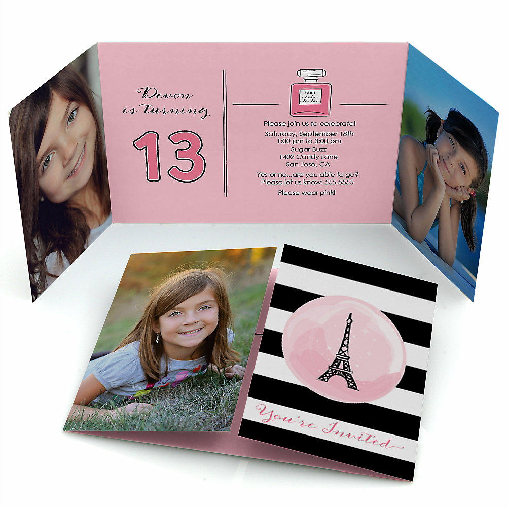 Paris Ooh La La Personalized Paris Themed Birthday Party Photo
