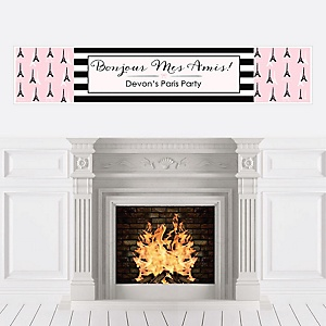 Paris, Ooh La La - Personalized Paris Themed Party Banners