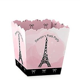 Paris, Ooh La La - Party Mini Favor Boxes - Personalized Paris Themed Party Treat Candy Boxes - Set of 12