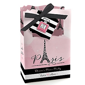 Paris, Ooh La La - Personalized Paris Themed Party Favor Boxes - Set of 12