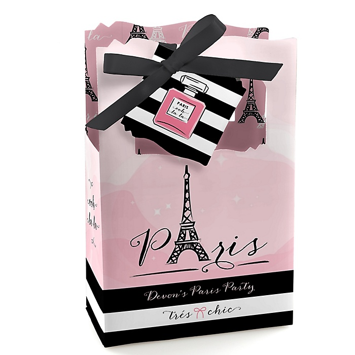 Paris, Ooh La La - Personalized Paris Themed Party Favor Boxes - Set of 12