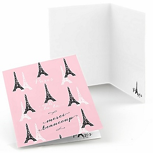 Paris, Ooh La La - Thank You Cards - 8 ct
