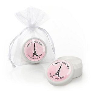 Paris, Ooh La La - Personalized Paris Themed Party Lip Balm Favors - Set of 12