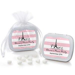 Paris, Ooh La La - Personalized Paris Themed Party Mint Tin Favors