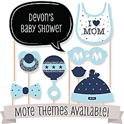 Baby shower favors and do it yourself bigdotofhappiness personalized baby shower photo booth prop kits solutioingenieria Images