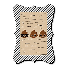 Party 'Til You're Pooped - Unique Alternative Guest Book - Poop Emoji Party Signature Mat