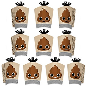 Party 'Til You're Pooped - Table Decorations - Poop Emoji Party Fold and Flare Centerpieces - 10 Count
