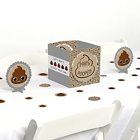 Party 'Til You're Pooped - Poop Emoji Party Centerpiece and Table Decoration Kit