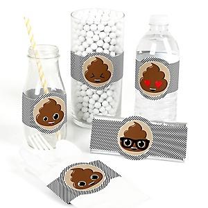 Party 'Til You're Pooped - DIY Poop Emoji Party Wrappers - 15 ct