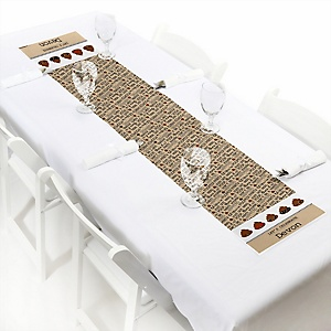 Party 'Til You're Pooped - Personalized Poop Emoji Party Petite Table Runner