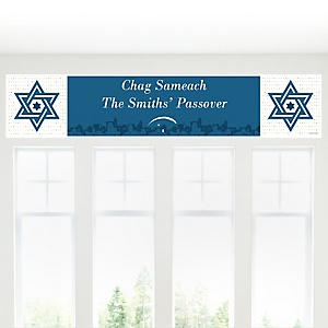 Happy Passover - Personalized Pesach Jewish Holiday Party Banner