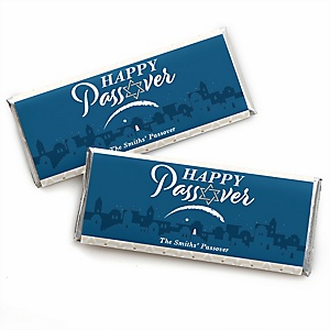 Happy Passover - Personalized Candy Bar Wrapper Pesach Jewish Holiday Party Favors - Set of 24