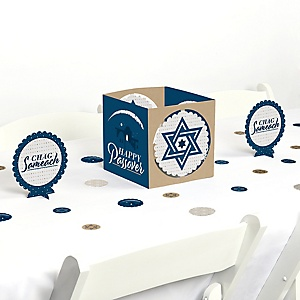 Happy Passover - Pesach Jewish Holiday Party Centerpiece and Table Decoration Kit