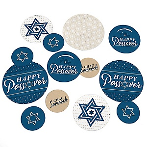 Happy Passover - Pesach Jewish Holiday Party Giant Circle Confetti - Party Decorations - Large Confetti 27 Count