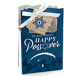 Happy Passover - Pesach Jewish Holiday Party Favor Boxes - Set of 12