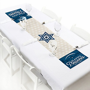 "Happy Passover - Personalized Petite Pesach Jewish Holiday Party Table Runner - 12"" x 60"""