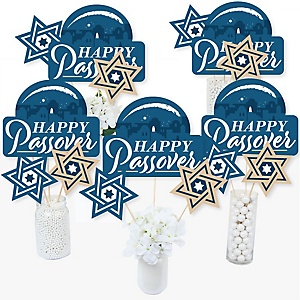 Happy Passover - Pesach Jewish Holiday Party Centerpiece Sticks - Table Toppers - Set of 15
