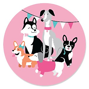 Pawty Like a Puppy Girl - Pink Dog Party Theme