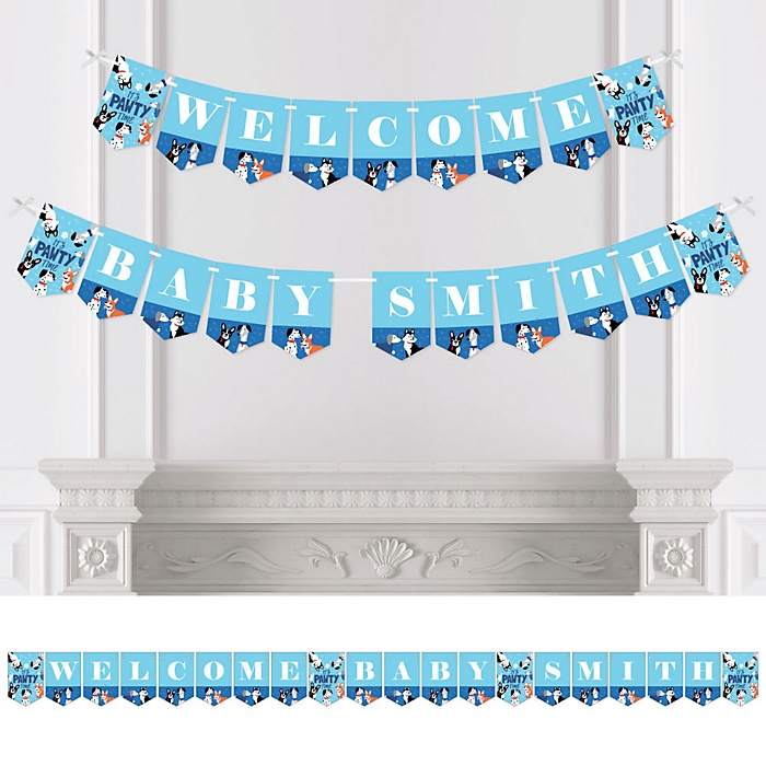 Pawty Like a Puppy - Personalized Dog Baby Shower Bunting Banner and Decorations