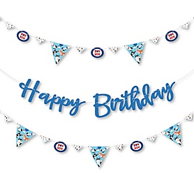 Pawty Like a Puppy - Dog Birthday Party Letter Banner Decoration - 36 Banner Cutouts and Happy Birthday Banner Letters
