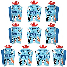 Pawty Like a Puppy - Table Decorations - Dog Baby Shower or Birthday Party Fold and Flare Centerpieces - 10 Count