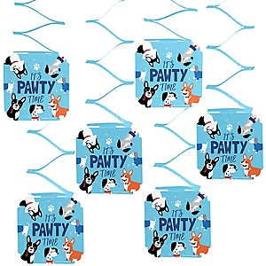 Pawty Like a Puppy - Dog Party Hanging Decorations - 6 ct