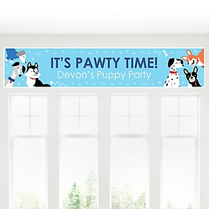 Pawty Like a Puppy - Personalized Dog Baby Shower or Birthday Party Banner