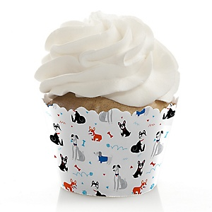 Pawty Like a Puppy - Dog Baby Shower or Birthday Party Decorations - Party Cupcake Wrappers - Set of 12