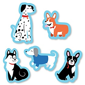 Pawty Like a Puppy - DIY Shaped Dog Baby Shower or Birthday Party Cut-Outs - 24 ct