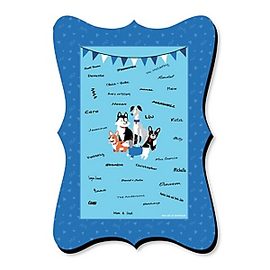 Pawty Like a Puppy - Unique Alternative Guest Book - Dog Baby Shower or Birthday Party Signature Mat