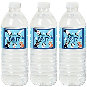Pawty Like a Puppy - Dog - Party Water Bottle Sticker Labels - Set of 20