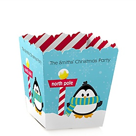 Holly Jolly Penguin - Holiday & Christmas Party Treat Candy Boxes - Set of 12