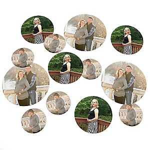 Photo Table Confetti - Baby Shower Decorations - 27 Count
