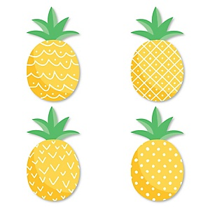 Tropical Pineapple - DIY Shaped Summer Party Cut-Outs - 24 ct