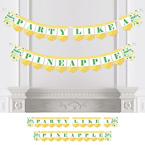 Tropical Pineapple - Summer Party Bunting Banner - Party Decorations - Party Like A Pineapple